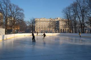 Ice-skating rink by the Nowa Huta Culture Centre