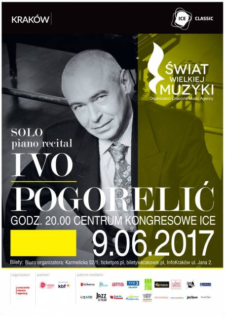 World of Great Music: Ivo Pogorelich solo piano recital at ICE Kraków