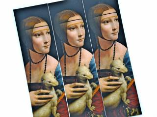 """Lady With An Ermine"" Bookmark"