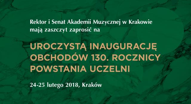 130th anniversary of the Academy of Music in Kraków