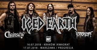 Iced Earth + support: Chainsaw, Horrorscope