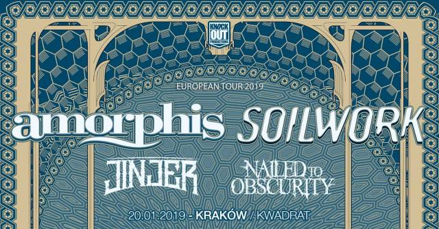Amorphis i Soilwork + Jinjer, Nailed to Obscurity w Kwadracie