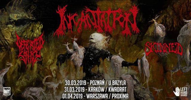 Incantation, Defeated Sanity, Skinned w Kwadracie
