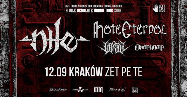 Nile, Hate Eternal, Vitriol, Omophagia w ZetPeTe