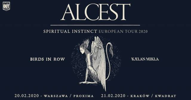 Alcest, Birds In Row, Kaelan Mikla w Kwadracie