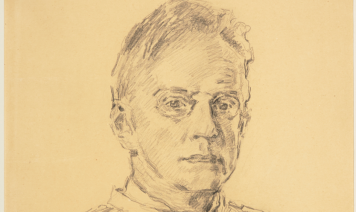 Józef Mehoffer – study of self-portrait and other drawing