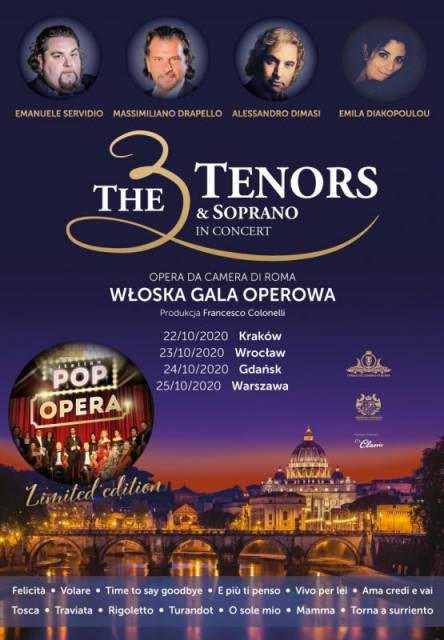 The 3 Tenors & Soprano in Concert