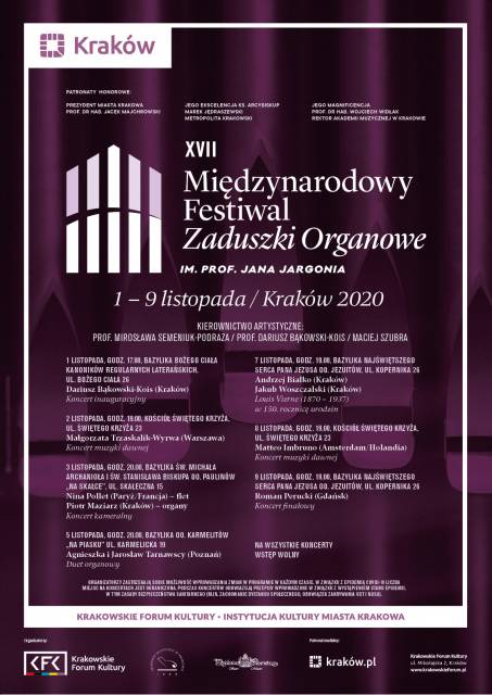 17th Prof. Jan Jargoń International Organ All Souls Festival