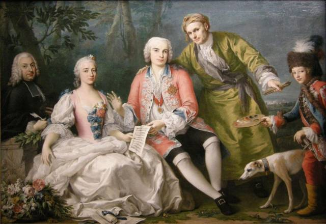 Farinelli with his friends, painting by Jacopo Amigoni, ca. 1750