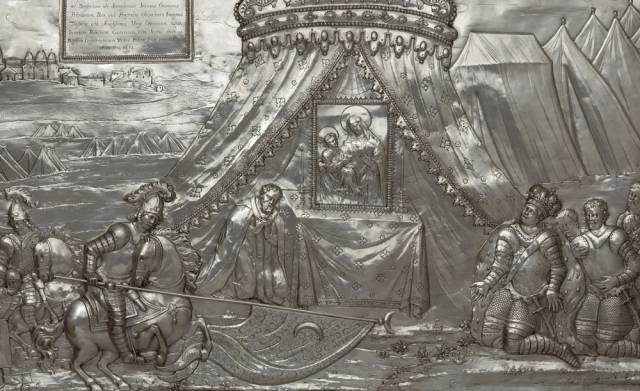 Berestechko 1651. Silver frontage from the sanctuary of Our Lady of Chełm